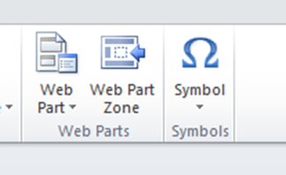 Web zone toolbar